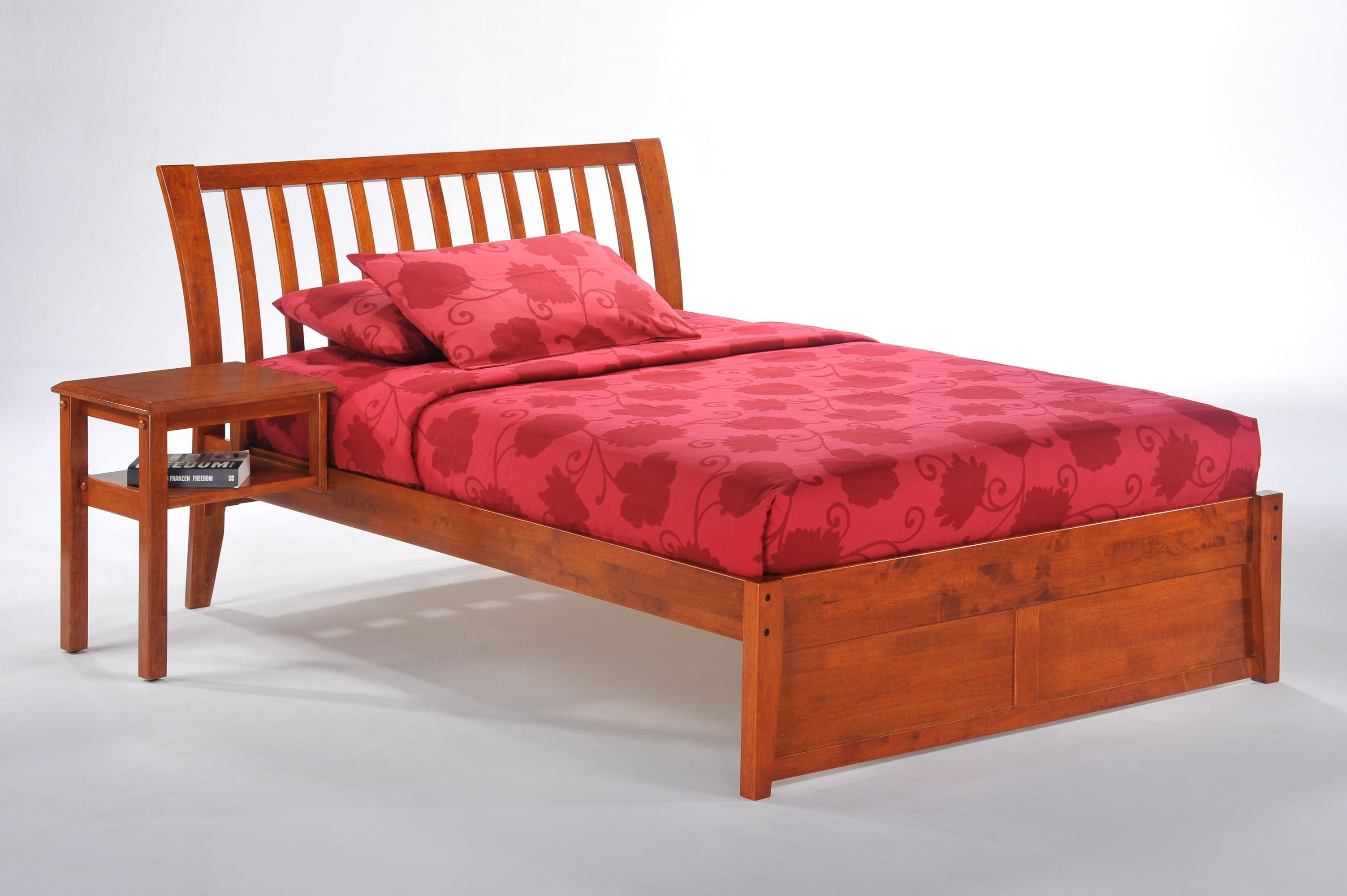 The Clove HookOn Nightstand shown with the Nutmeg K