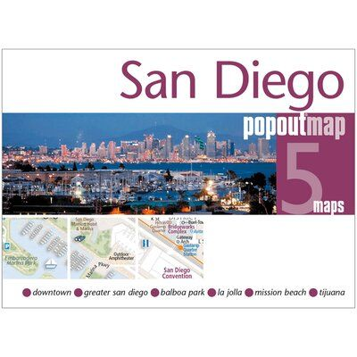 Universal Map San Diego California PopOut Map