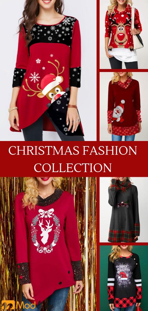 Women S Christmas Fashion List Christmas Fashion Womens Trendy Tops Women Tunic Tops