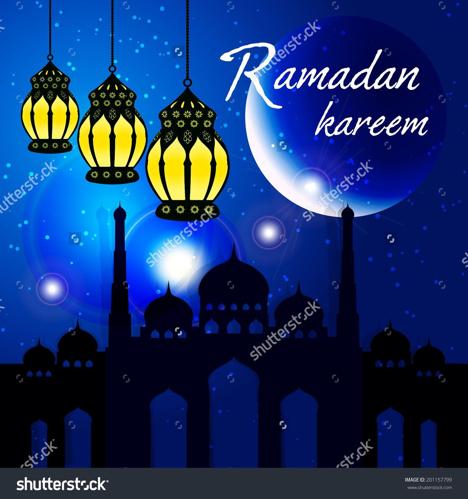 Ramadan Kareem Greeting Card Vector Template Greeting Card With