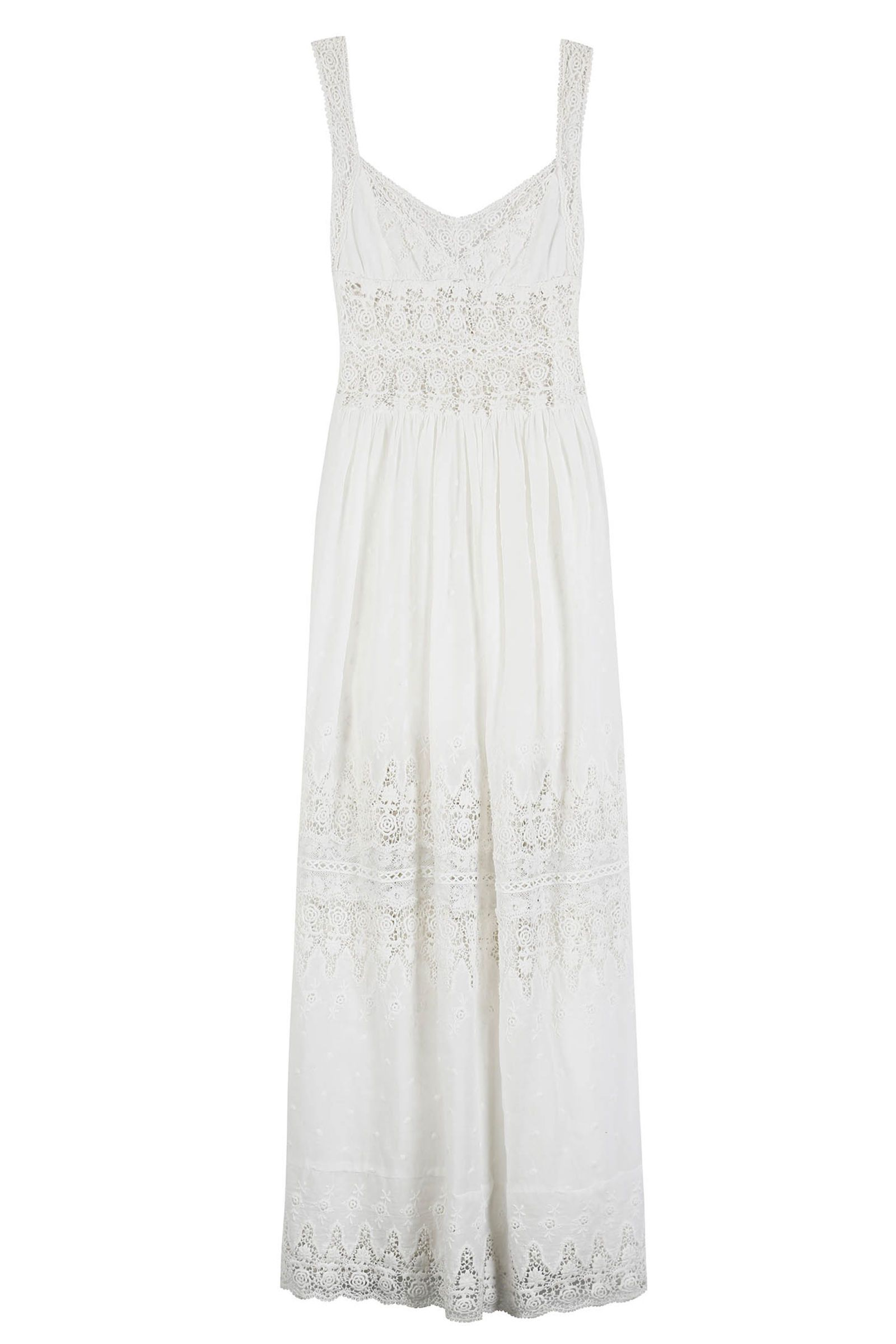 Ivory silk and lace wedding dress   Beach Wedding Dresses You Can Buy Off the Rack  Silk slip Ivory