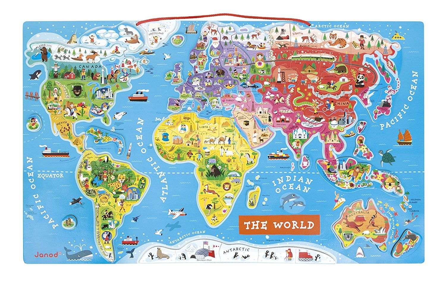 Janod magnetic world map amazon toys games kids gifts janod magnetic world map amazon toys games gumiabroncs Images