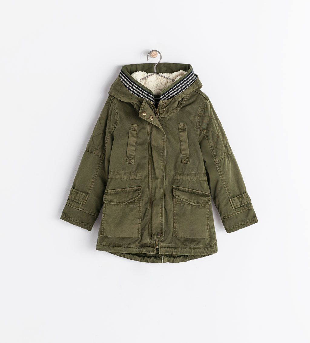 premium selection 2439f 973e8 Image 1 of PARKA WITH REMOVABLE FLEECE from Zara