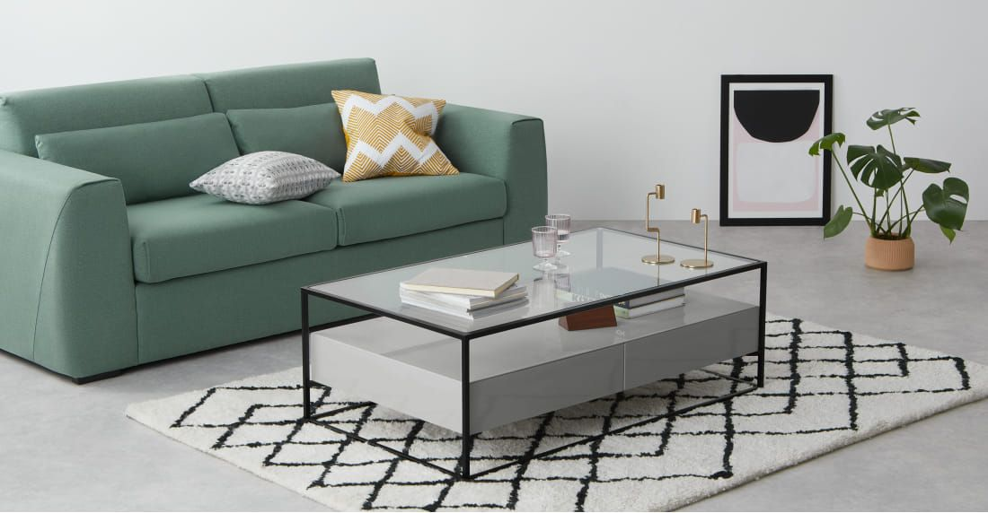 Baxter Coffee Table Grey And Glass Flat In 2019 Table Coffee Table Grey Dining Furniture
