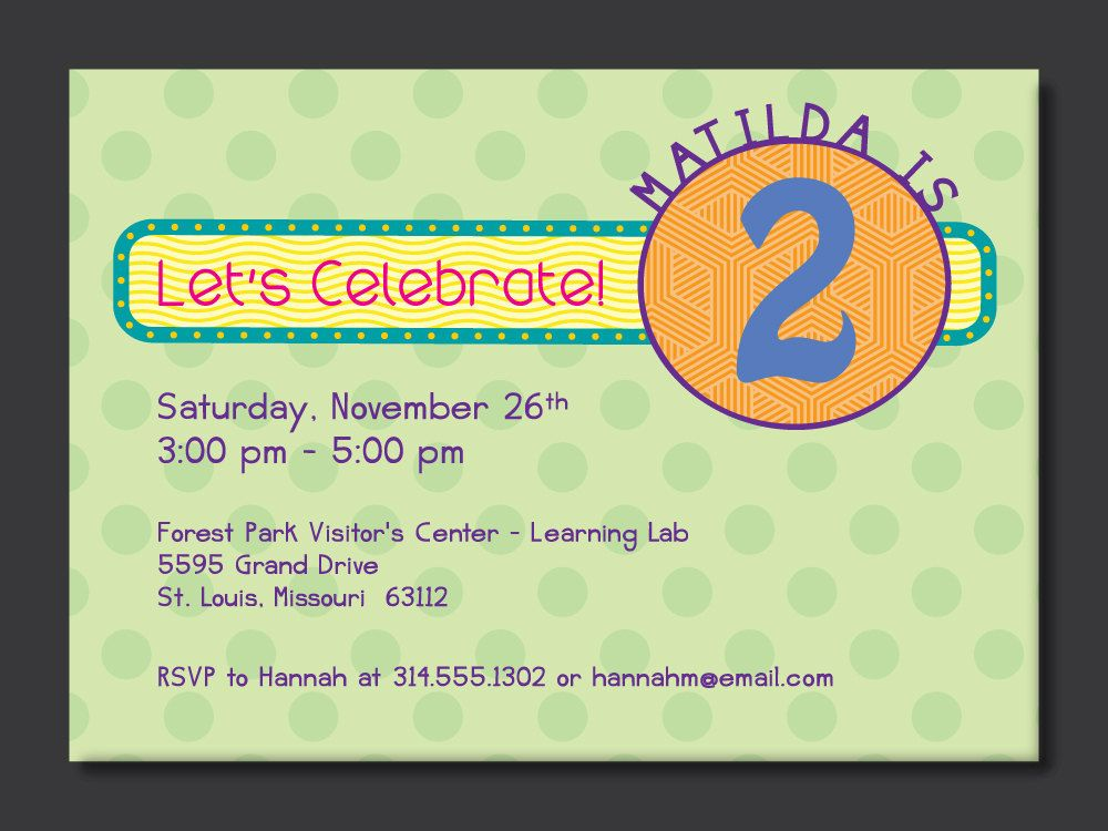 Free FREE Template 2nd Birthday Invitation Wording Samples