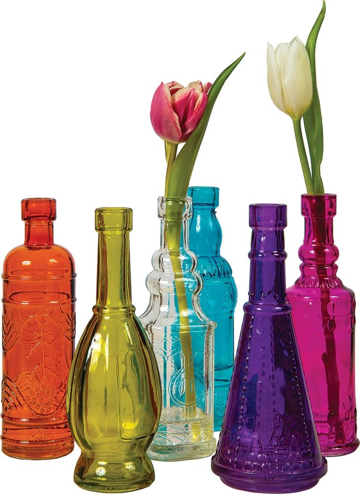 Multicolor Cheyenne Glass Bottle Set With Images Colored Glass Bottles Painted Glass Bottles Glass Bottles Decoration