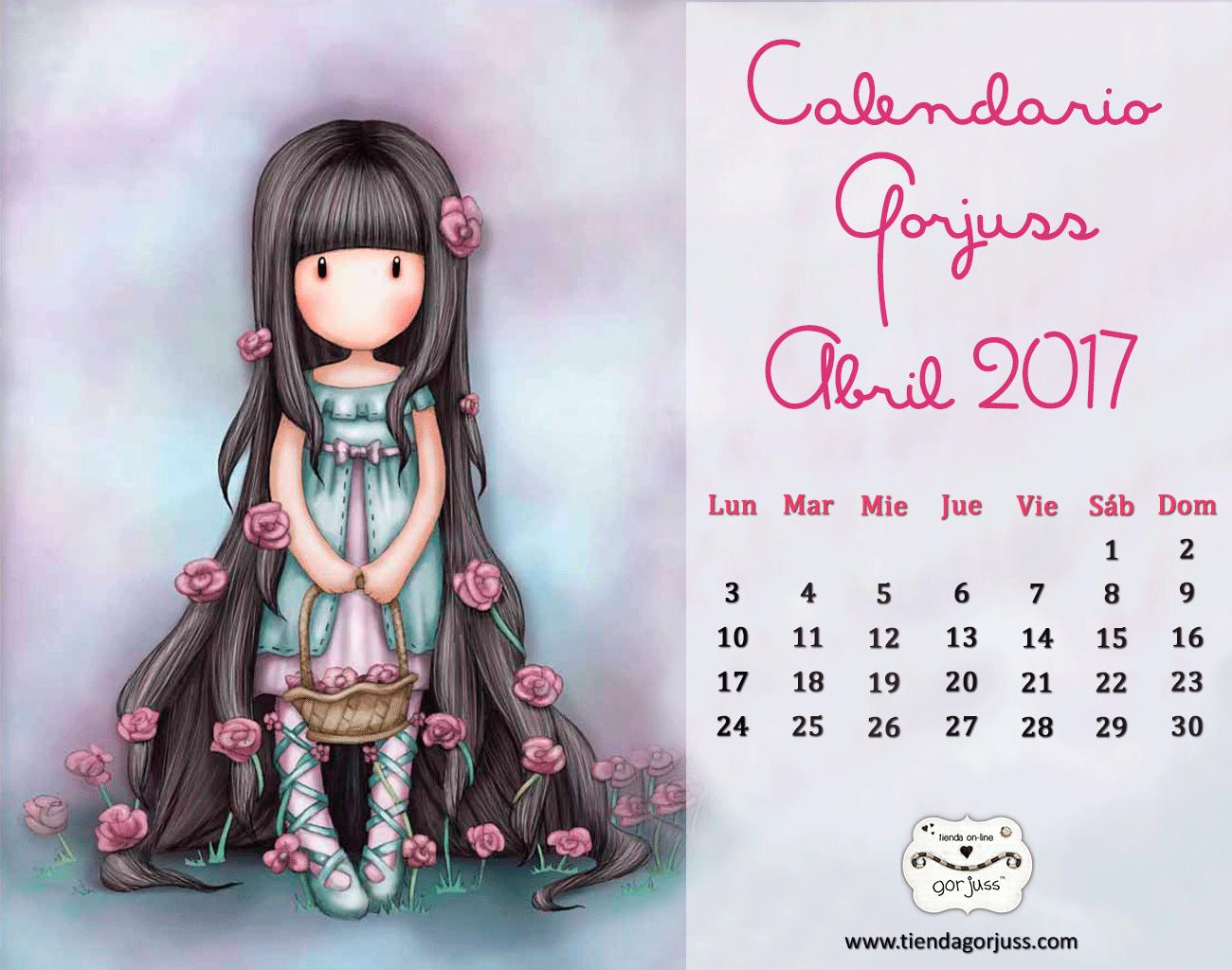 Gorjuss Abril 2017 Regalo De Calendario Descargable Gorjuss Png 1300 1024 Calendario Fondos Fondo