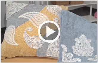 Free video with instructions on how to embroider freestanding battenburg lace.