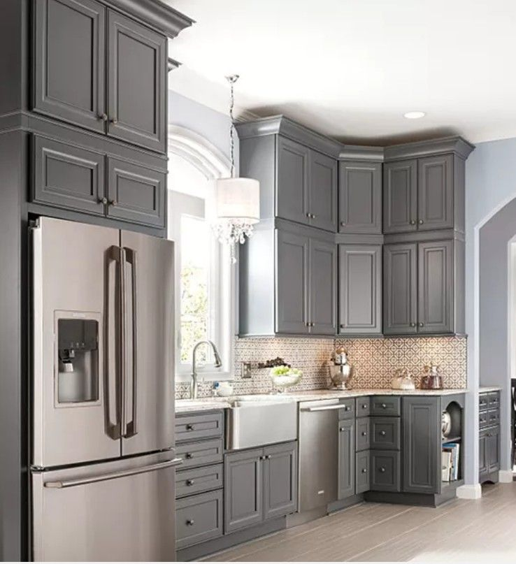 Best Gray Kitchen Home Depot House Design Kitchen Interior 640 x 480