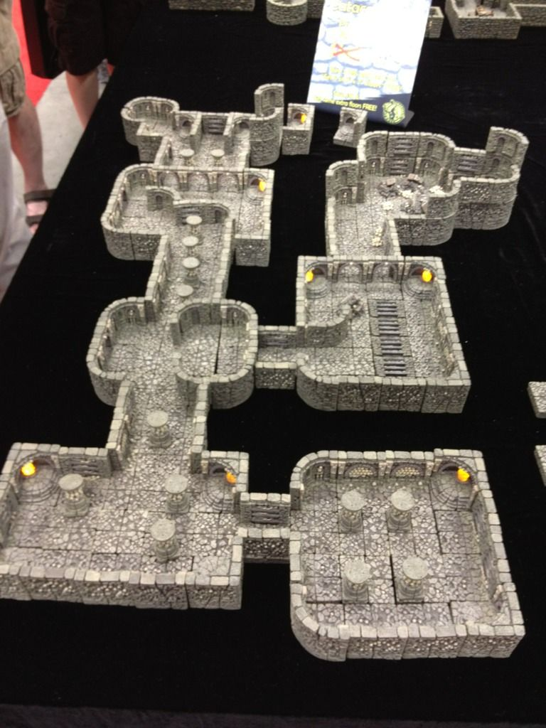 a simpler dungeon map created w/ Dwarven Forge products