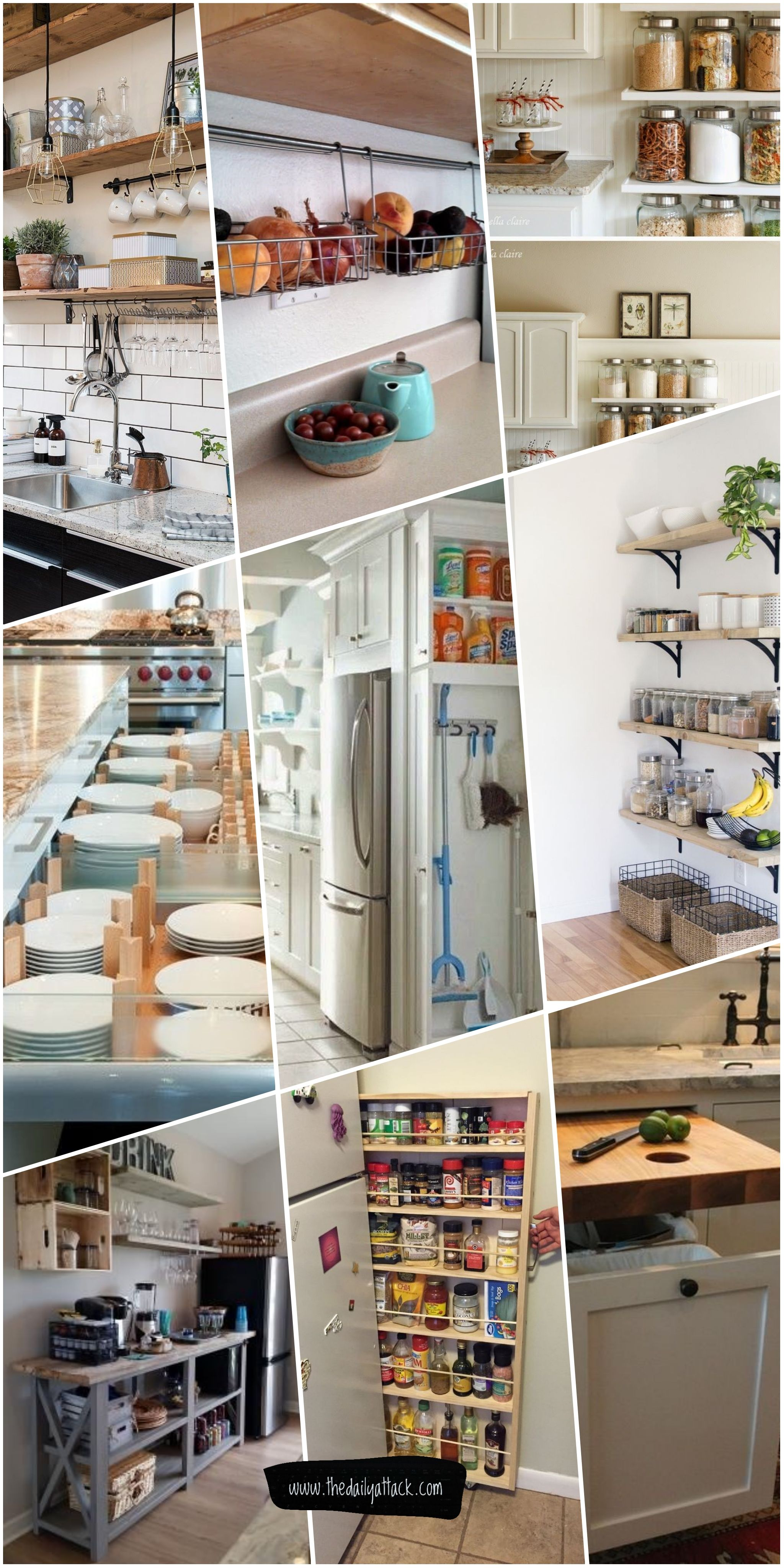 Hanging Kitchen Storage Ideas Racks Design Images Wall Containers Pantry