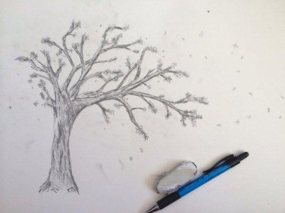Sketsa Gambar Bunga Berikut Cocok Untuk Kamu Yang Masih Belajar Membuat Sebuah Sketsa Sebel Blossom Tree Tattoo Tree Tattoo Drawings Cherry Blossom Tree Tattoo
