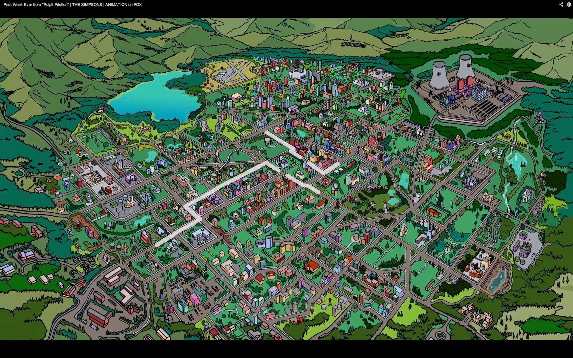 Springfield   cool   Simpsons springfield map, Springfield simpsons on
