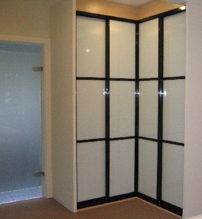 L Shaped Sliding Doors Sliding Doors Can Also Be Configured In A Corner Situa Modern Closet Doors Sliding Mirrored Wardrobe Doors Sliding Mirror Wardrobe Doors