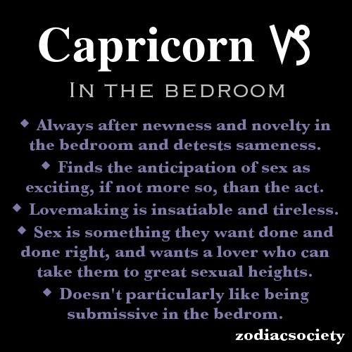 Capricorn male sexuality traits