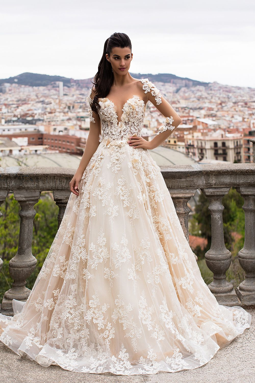 Brooklyn Sheer Bridal Gown | Wedding Dress | Pinterest | Bridal ...