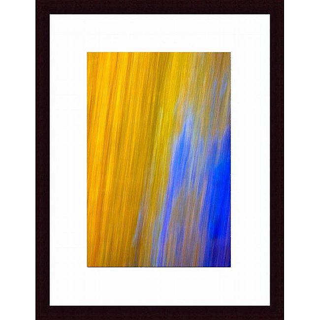 Joe Gemignani 'Blue Streak Cropped' Wood Framed Art Print