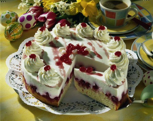 Erfrischende HimbeerDickmilchTorte Rezept  Torten und