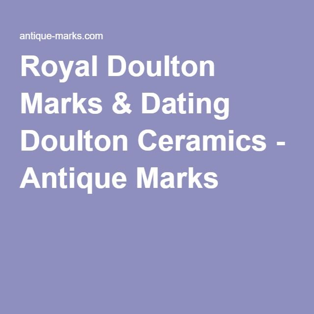 Dating marks royal doulton