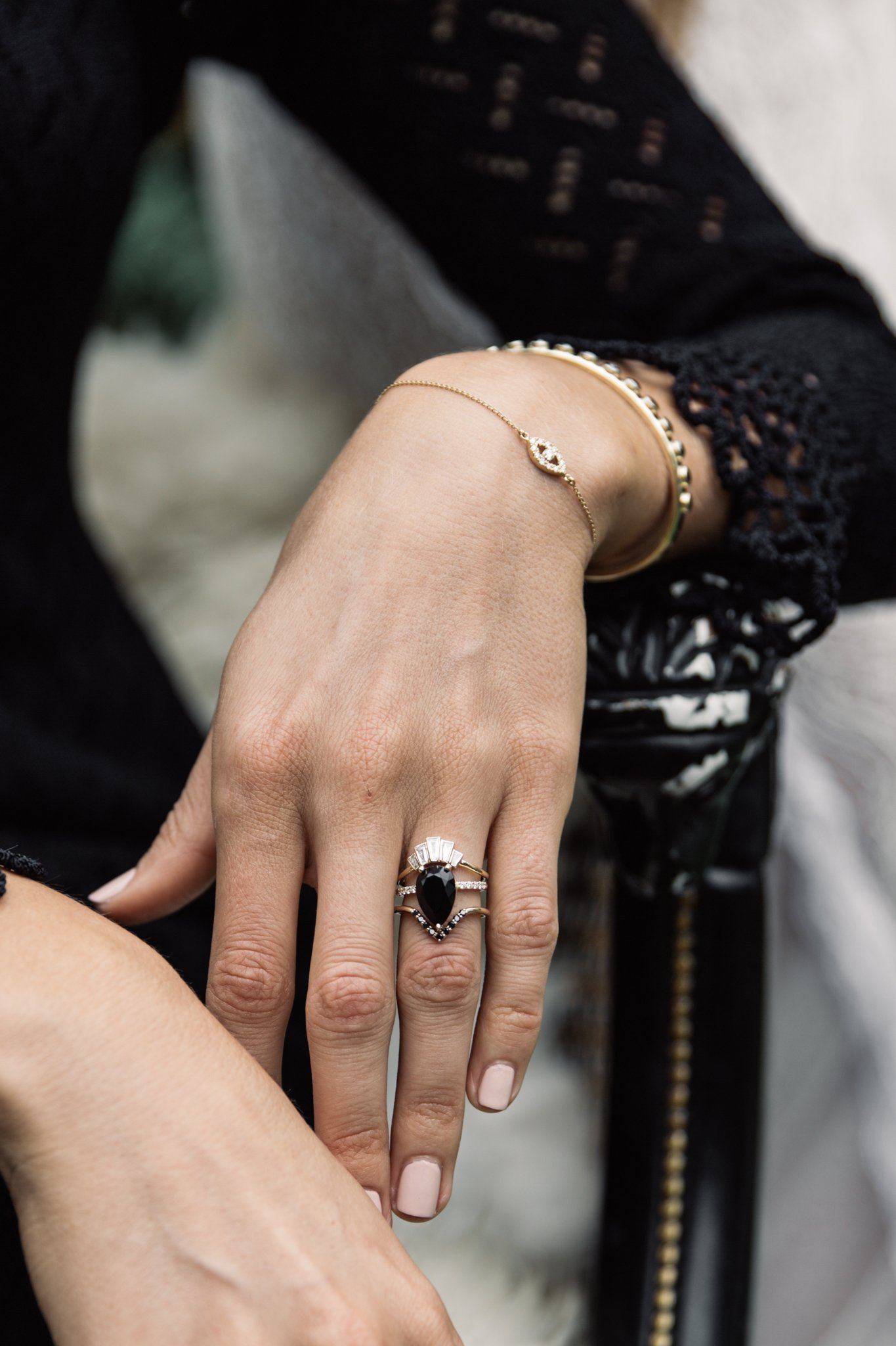 Sweet Melissa Black Onyx Ring Black Diamond Ring Engagement Onyx Engagement Ring Black Onyx Ring