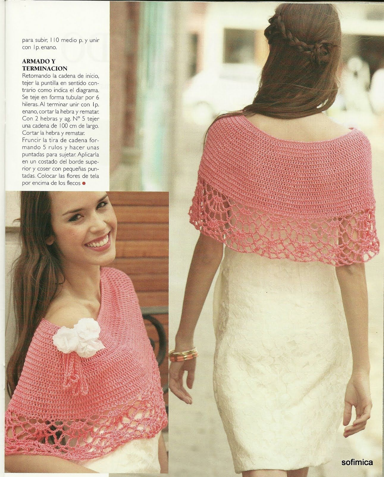Patrones para Crochet: Chal Hiperfemenino Patron | Ganchillo ...