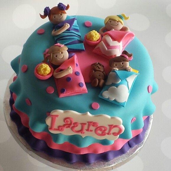 Sleepover Cake Sleepover Birthdaycake Mimissweetcakesnbakes