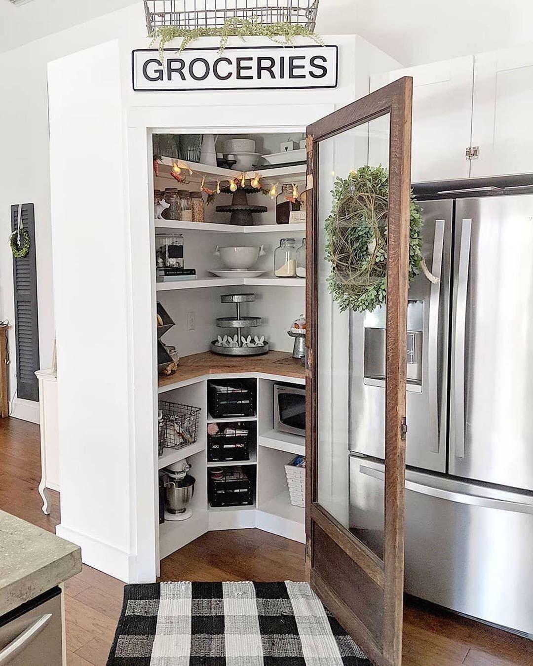 "Farm House Idea on Instagram: ""Okay, definitely one of our favorite pantry d, #Farm #favorit..."