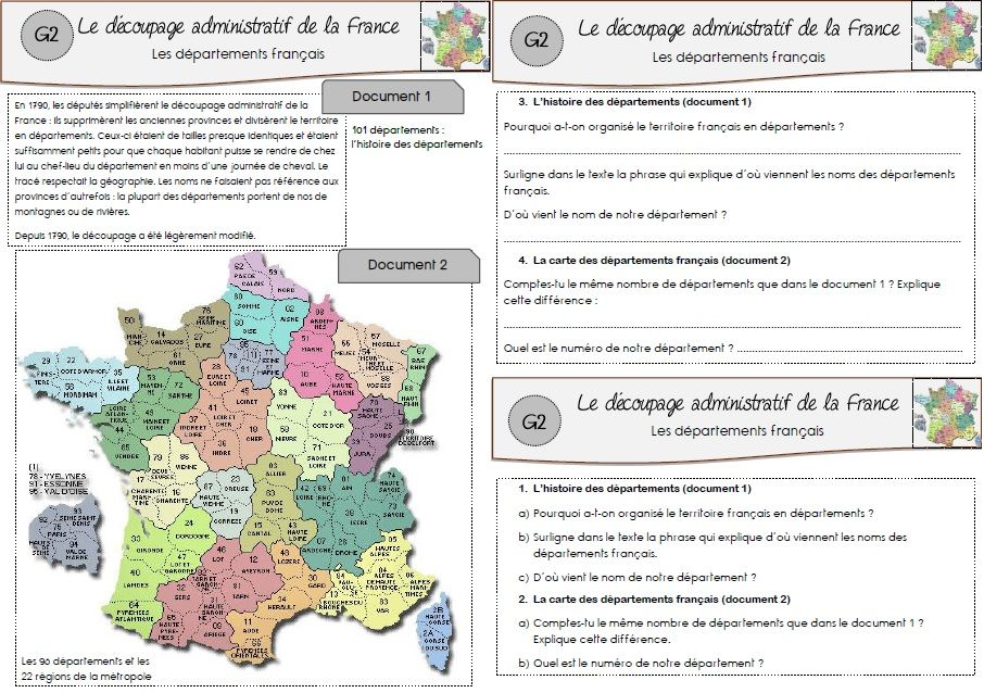departments and regions worksheet | FRENCH Learning ...