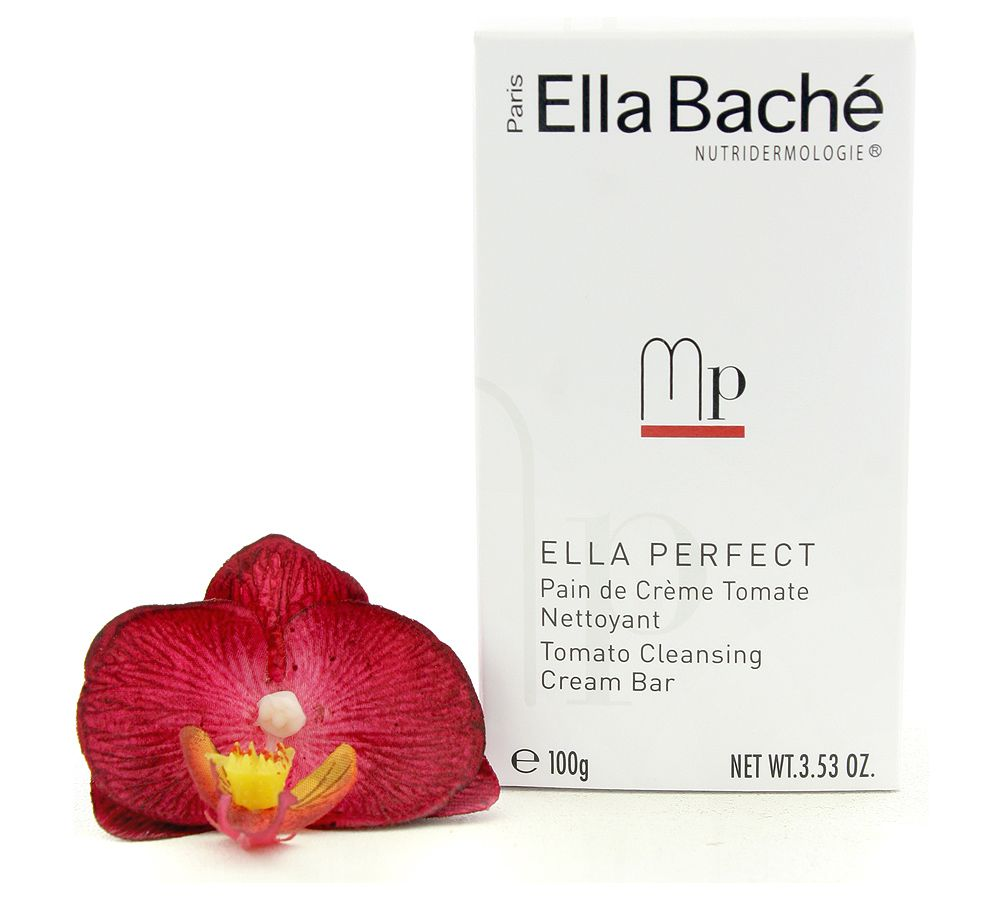Ella Bache Ella Perfect Pain de Creme Tomate Nettoyant - Tomato Cleansing Cream Bar 100g - A soap-free bar with a Cold Cream base for clean, soft and radiant skin! #EllaBache #cleanser ##skincare #facecare  #beauty