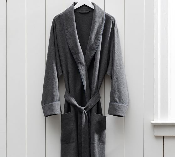 Vincent Men S Cotton Flannel Robe Flannel Robe Mens