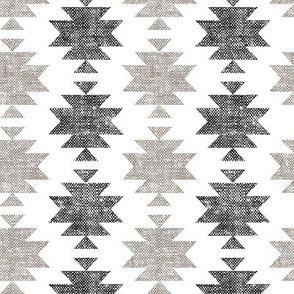 Fabric modern aztec || woven neutrals