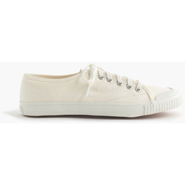 official photos 1e99d e56f6 J.Crew Women s Tretorn Canvas T56 Sneakers ( 68) ❤ liked on Polyvore  featuring shoes, sneakers, tretorn, white, vintage tennis shoes, canvas  trainers, ...