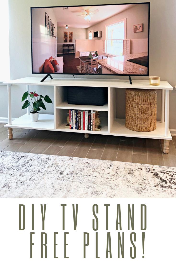 Tv Stand Diy Project Free Diy Instructions Tvstand Entertainmentcenter Homediy Diy Tv Stand Diy Furniture Plans Wood Table Design