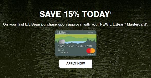 L.L. Bean Credit Card Application Credit