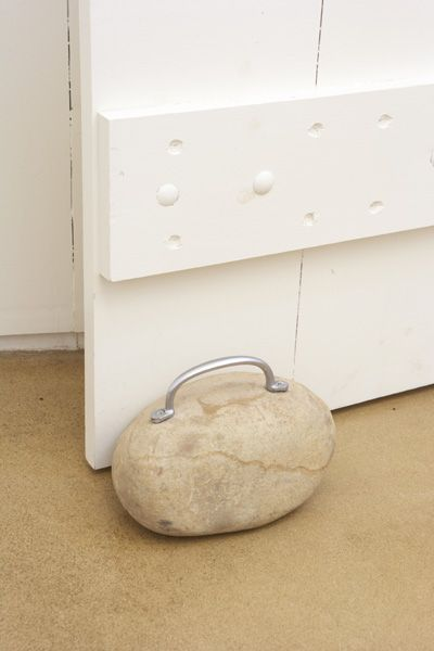 We Spotted This Funky Doorstop Made From A Large Rock And Handle