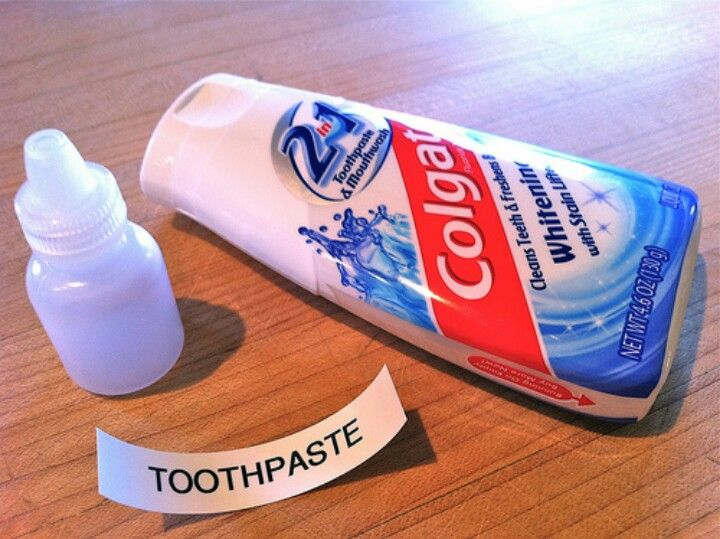Traveling lightweight toothpaste
