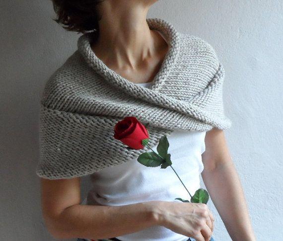 Diese Hand stricken unendlich Schal, Kapuze, Kap wird Sie sehr warm ...