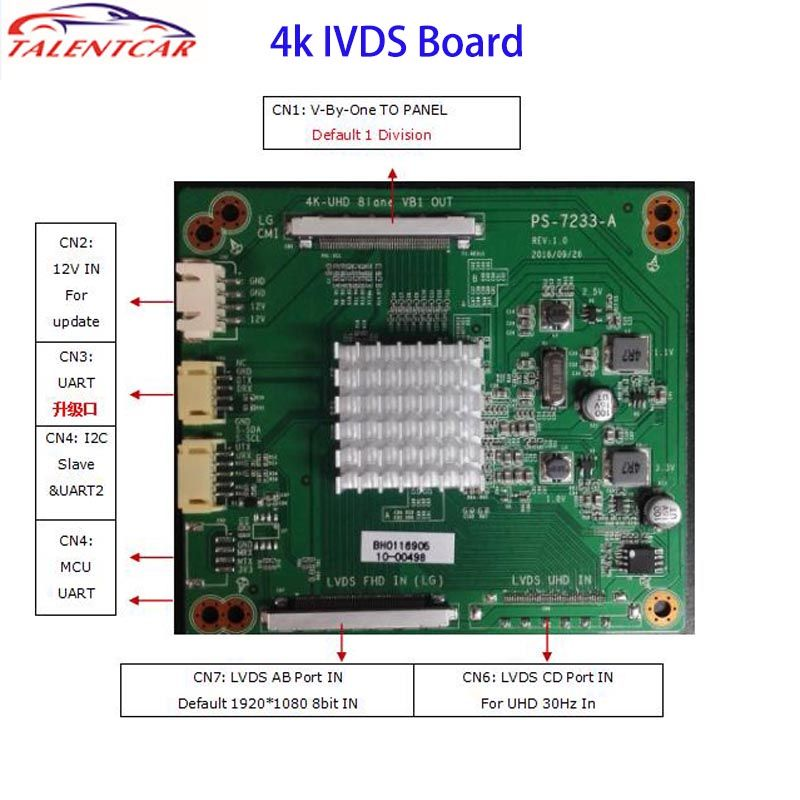 Cheap Price 4k Ivds Board LCD Lvds Driver Board PS-7233-A TV