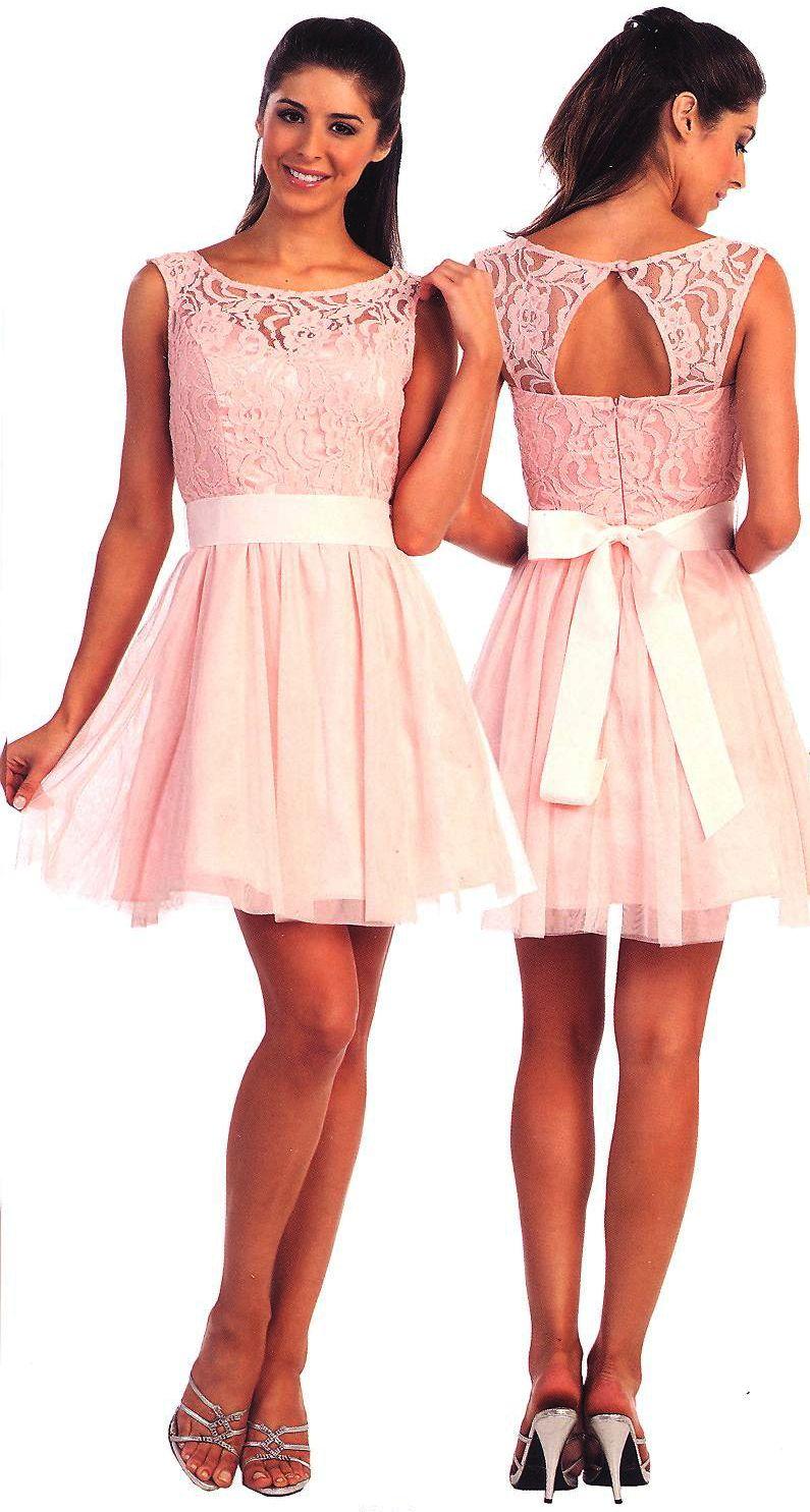 Bridesmaids Dresses Sweet 16 Dresses under 100<BR>920<BR>Short lace ...