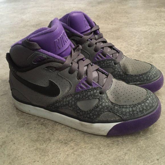 Purple and Grey Nike High Tops | Nike