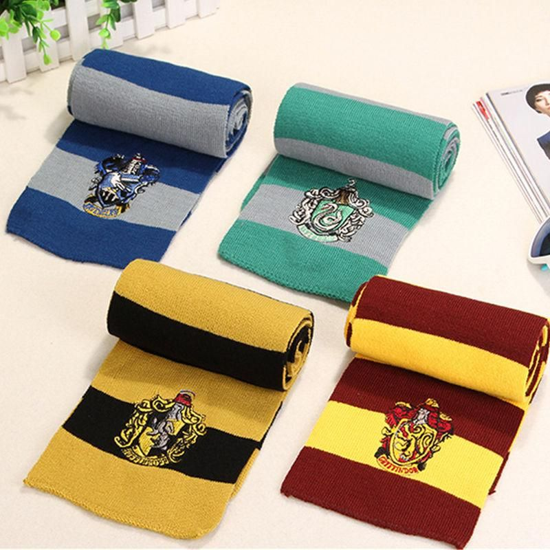 UK Harry Potter Scarf Gryffindor-Slytherin-Hufflepuff-Ravenclaw gift cosplay N