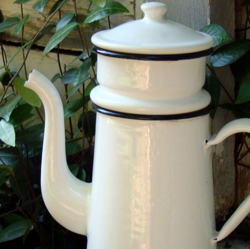White enamel coffee pot just like my own. | Food and Cooking ...
