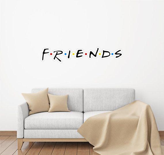 Friends Font #1 Wall Decal Wall Sticker Logo Fabric Vinyl ...