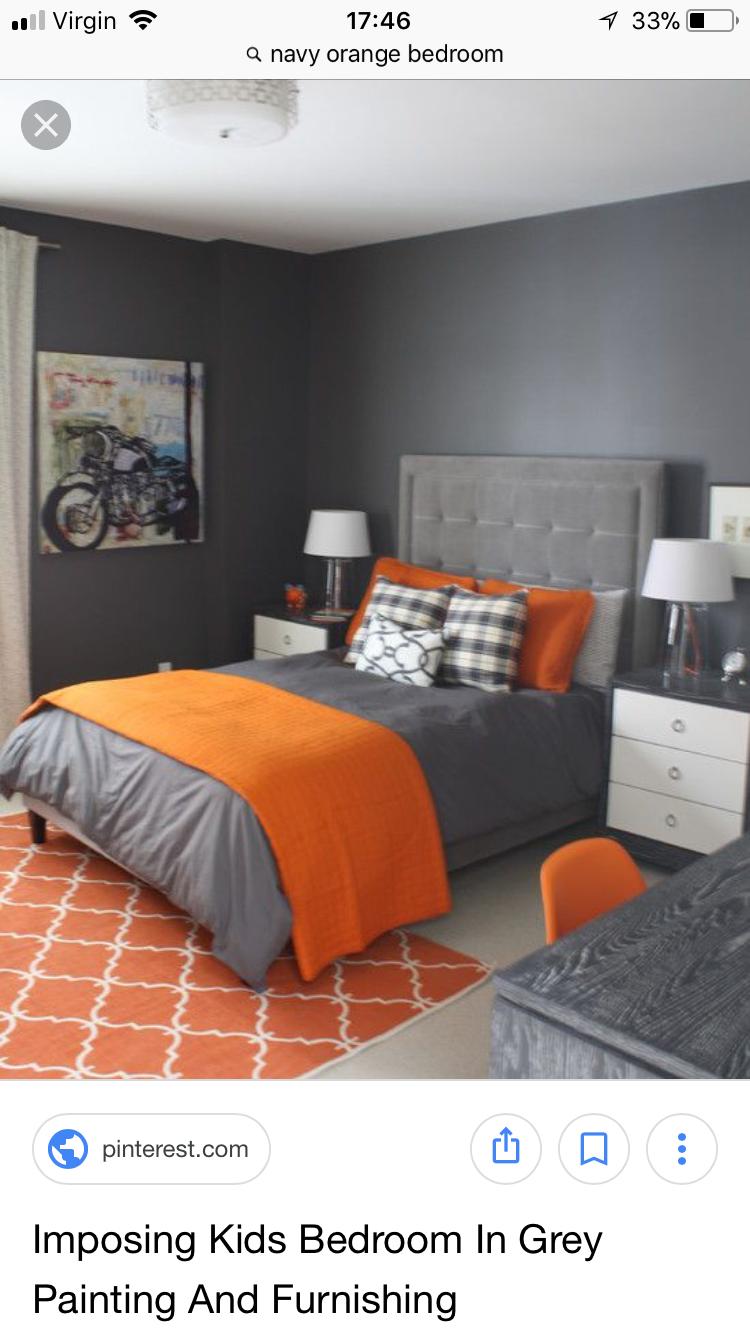Orange chambre de Malika Mankour du tableau Draps de lit  Chambre