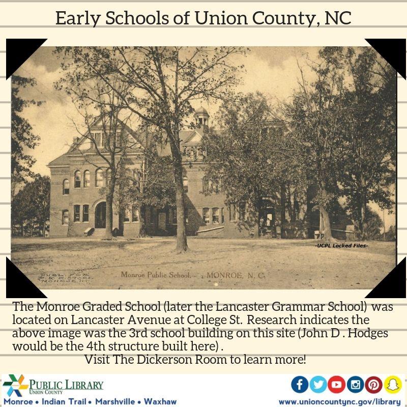 Tbt The Monroe Graded School Once Stood On Lancaster Avenue Semi