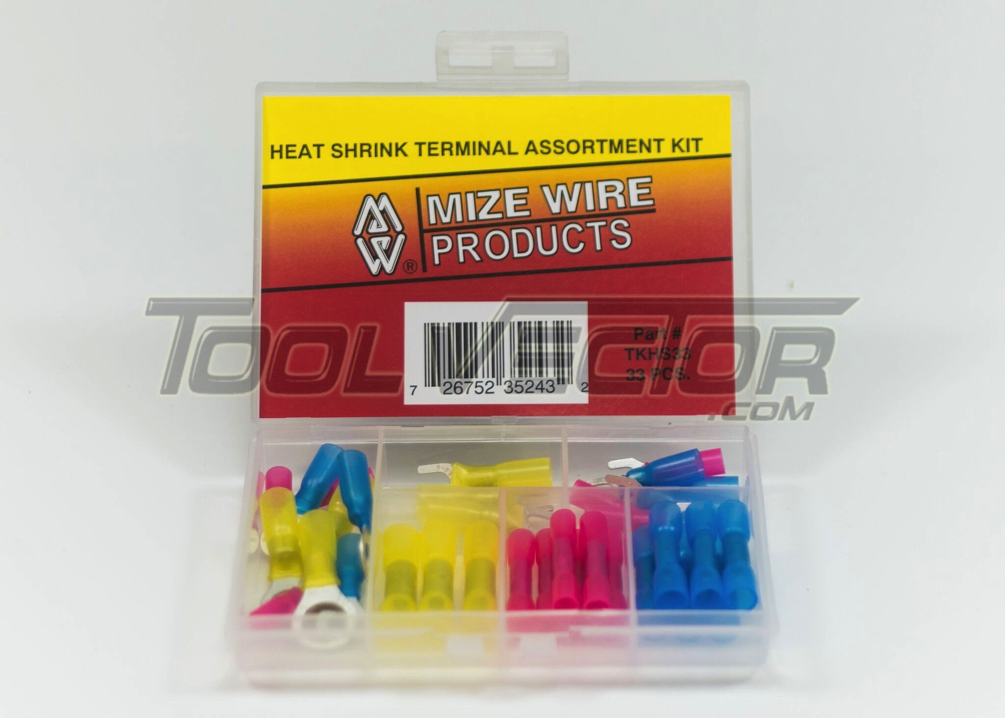 100 pcs Mize Wire Red Heat Shrink Butt Connectors Crimp Terminals MADE IN USA