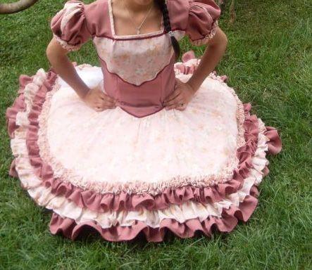 imagenes de vestidos de huasa rosado