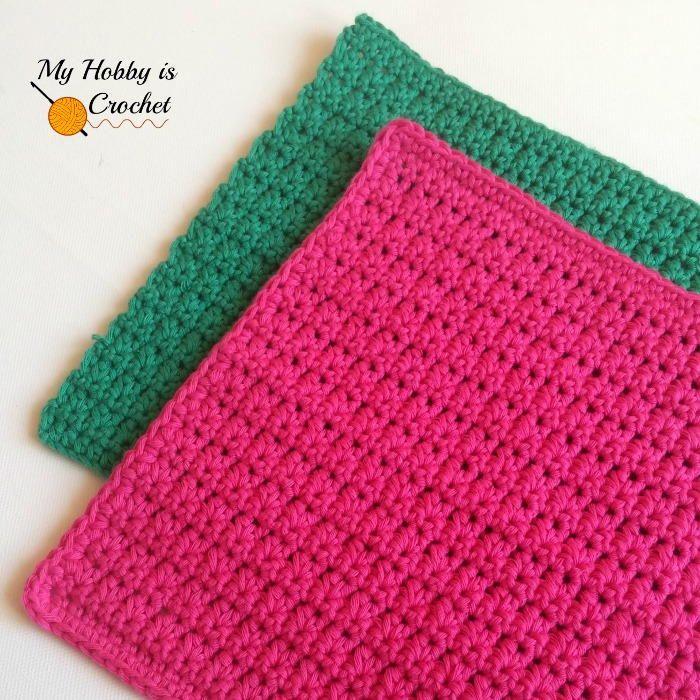 Easy Crochet Dishcloth | Labores, Puntadas y Puntos