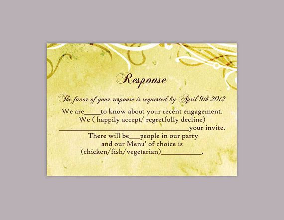 DIY Rustic Wedding RSVP Template Download Printable Wedding - party rsvp template
