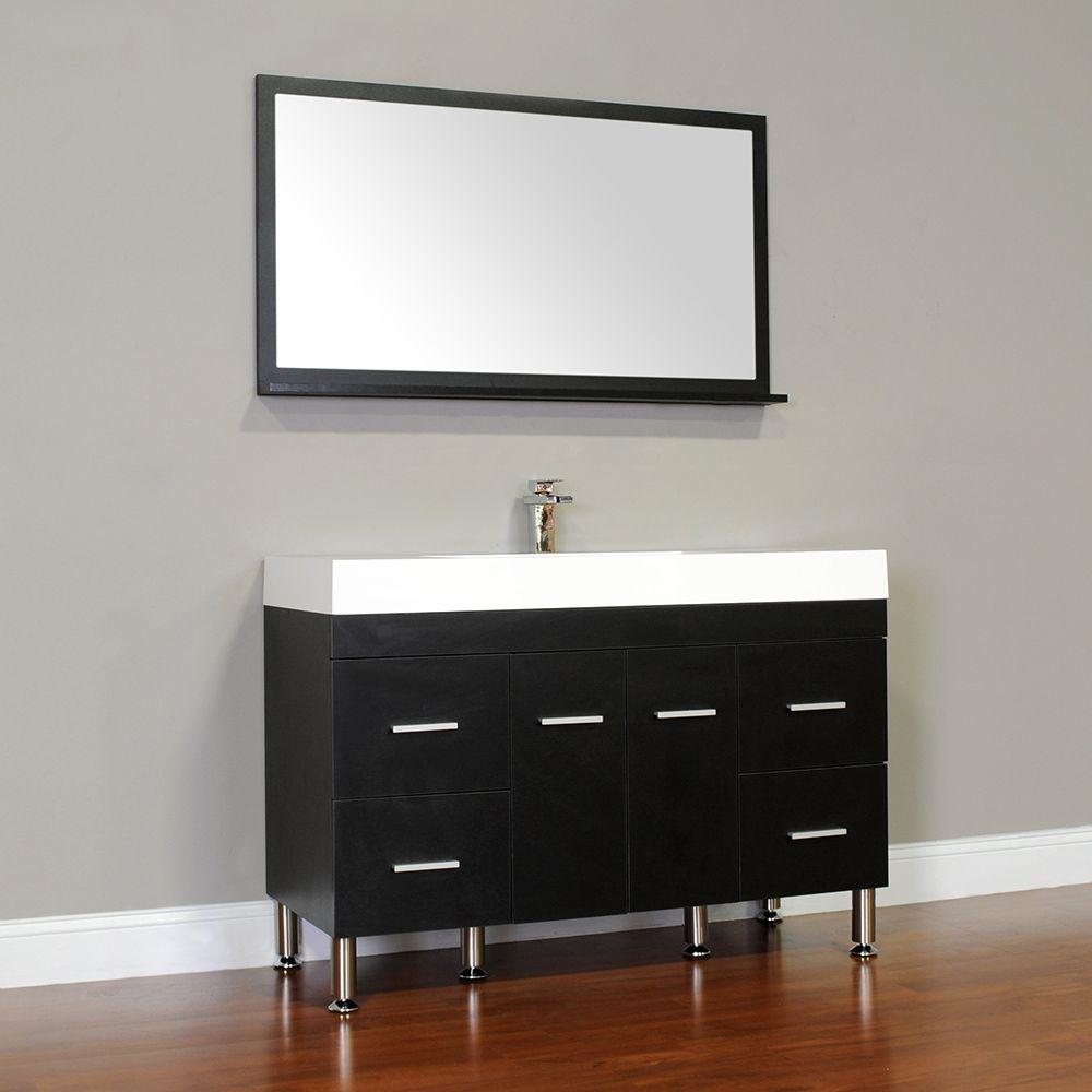 alya at 8042 b 47 single modern bathroom vanity black house and rh pinterest com
